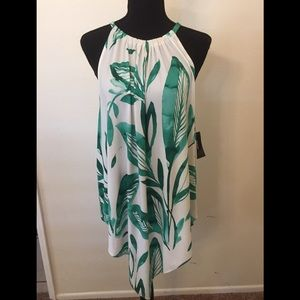 ALFANI GREEN WATERCOLOR PALM TOP - SIZE LARGE
